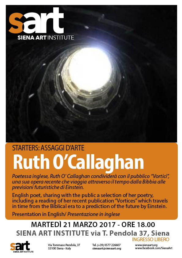 Ruth O'Callaghan stARTers 21 marzo