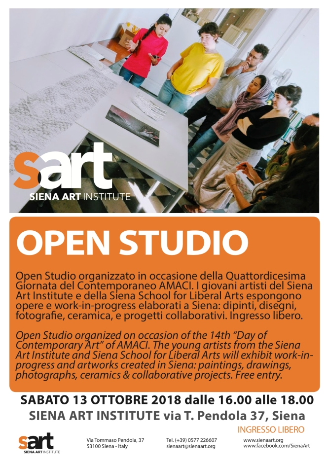 AMACI Open Studio 13 ottobre 2018 updated