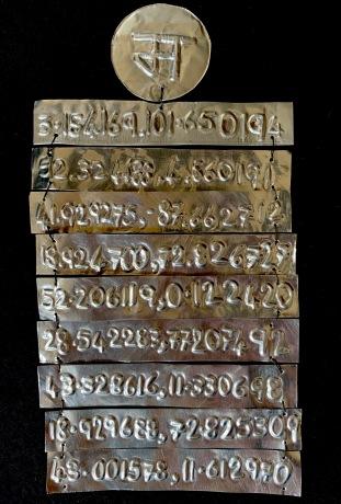 Mira Tiwari, Silversmithing, License Plates for Life 1